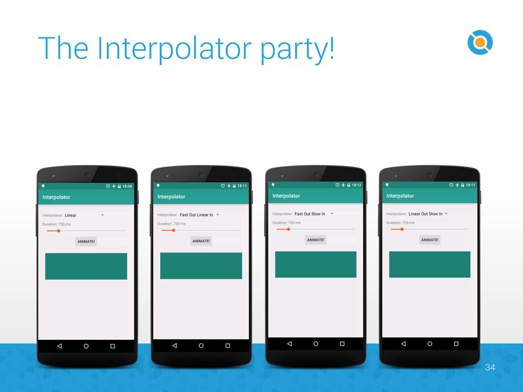 The Interpolator party! 34