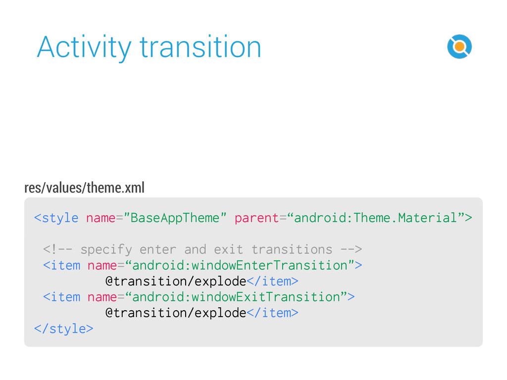 "Activity transition 42 <style name=""BaseAppThem..."