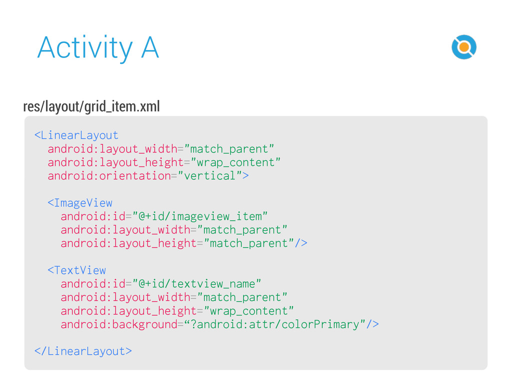 Activity A 44 <LinearLayout android:layout_widt...