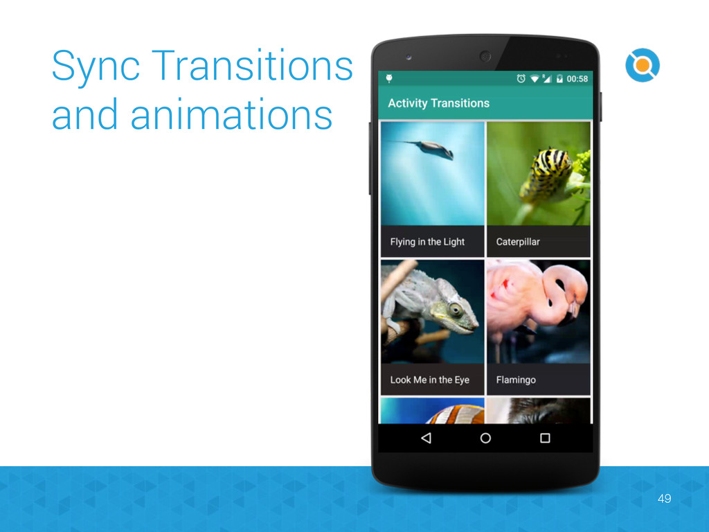 Sync Transitions and animations 49