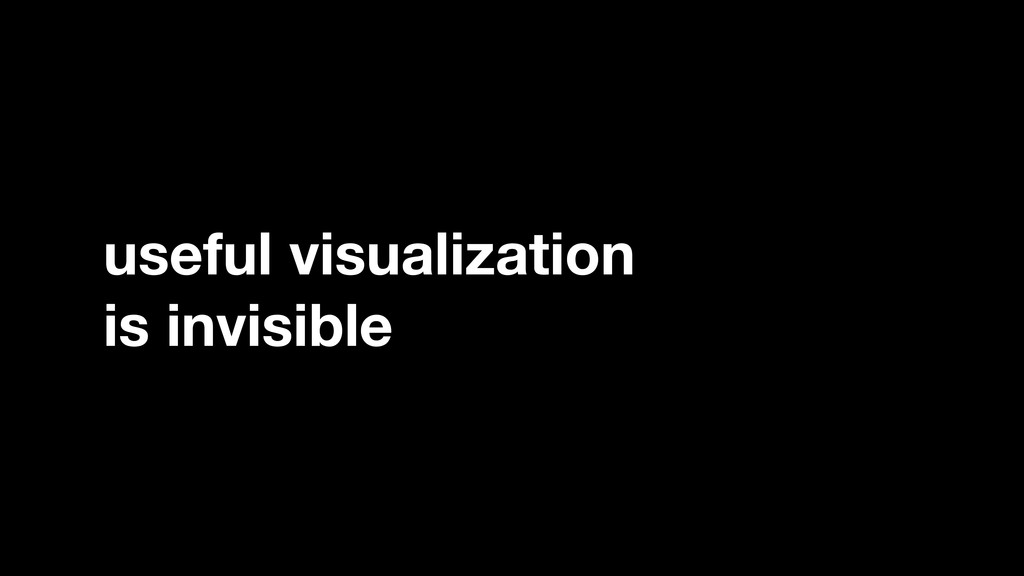useful visualization is invisible