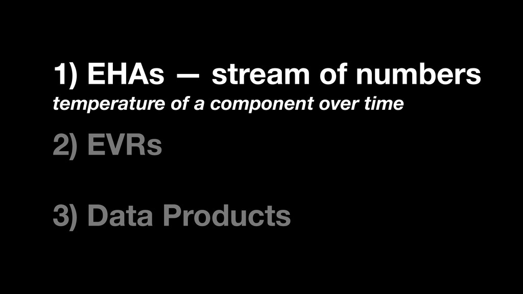 1) EHAs — stream of numbers temperature of a co...