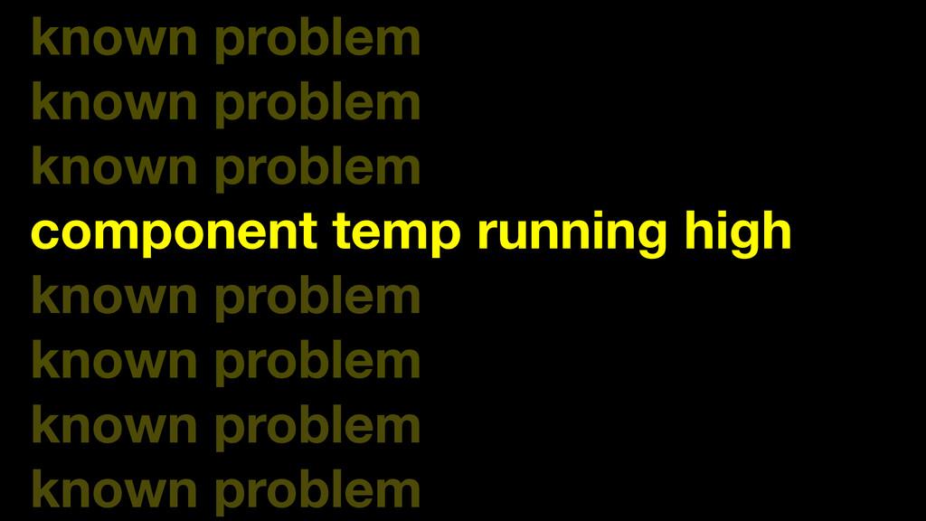 known problem known problem known problem compo...