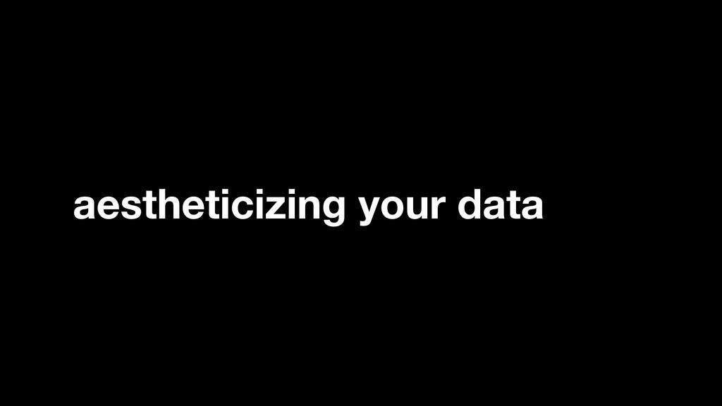aestheticizing your data