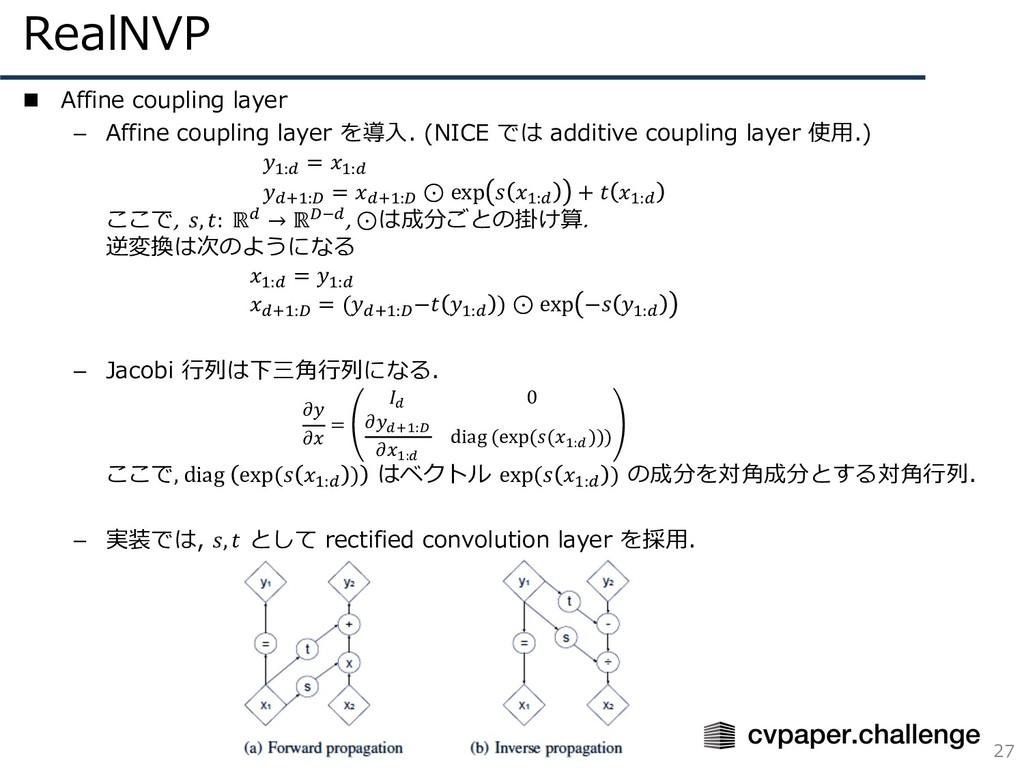 RealNVP 27 n Affine coupling layer – Affine cou...