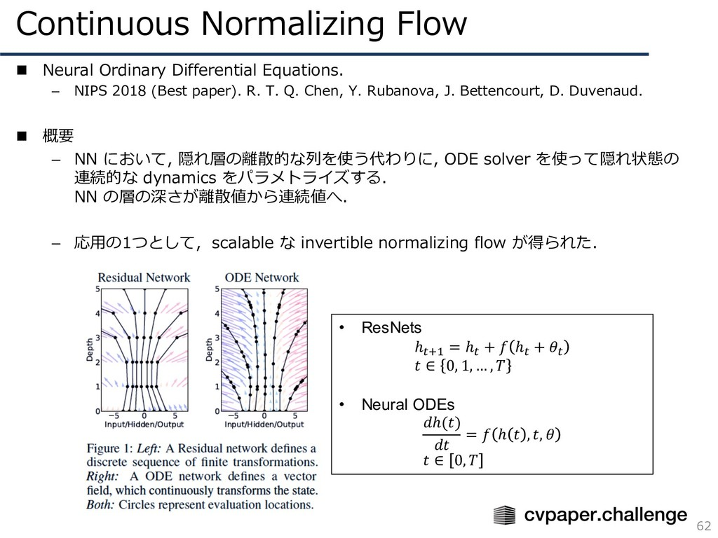 Continuous Normalizing Flow 62 n Neural Ordinar...