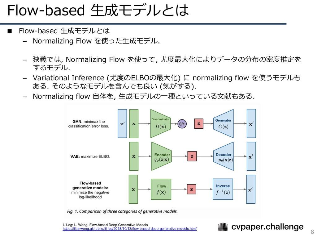 Flow-based ⽣成モデルとは 8 n Flow-based ⽣成モデルとは – Nor...