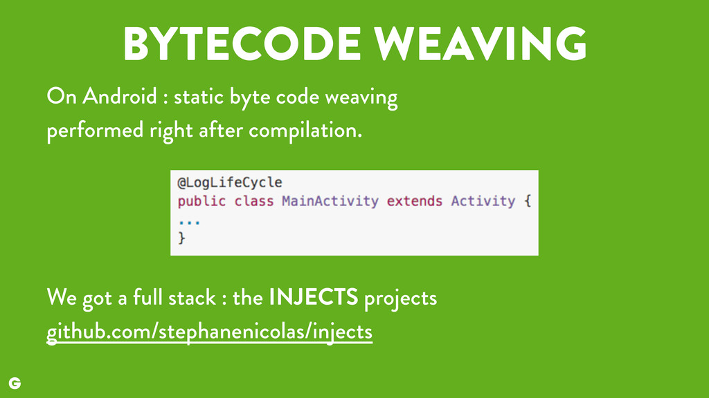 BYTECODE WEAVING On Android : static byte code ...