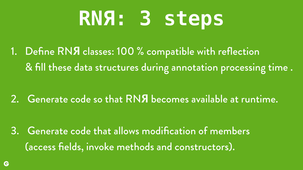 RNЯ: 3 steps 1. Define RNЯ classes: 100 % compat...