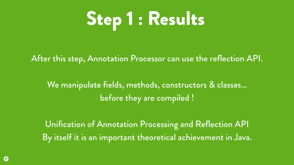 Step 1 : Results After this step, Annotation Pr...