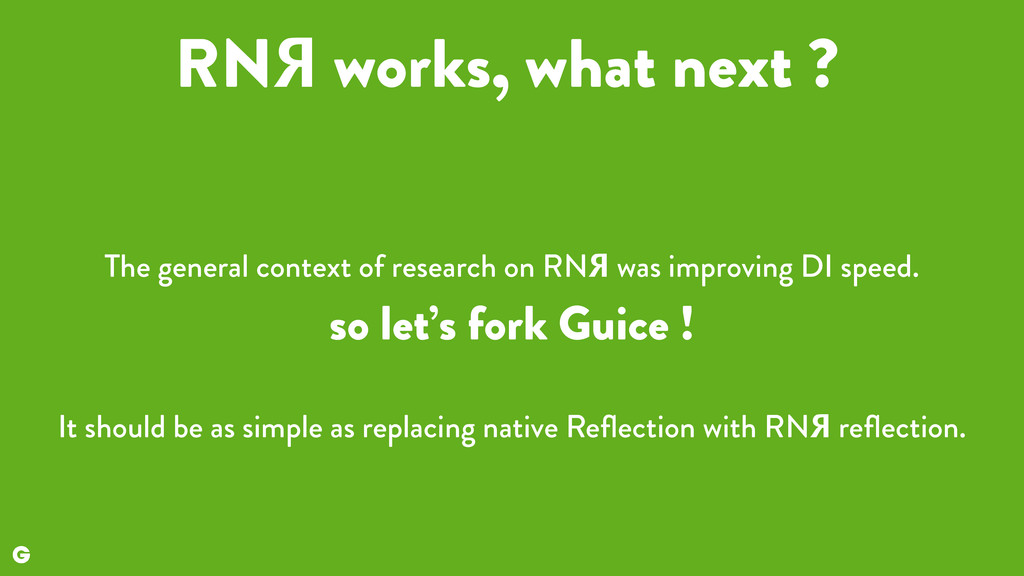 RNЯ works, what next ? The general context of r...
