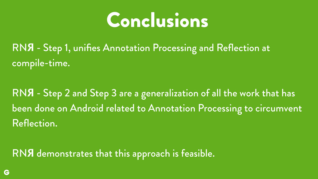 Conclusions RNЯ - Step 1, unifies Annotation Pro...