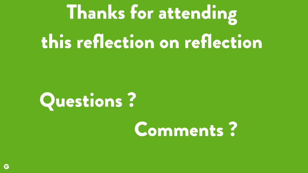 Thanks for attending 