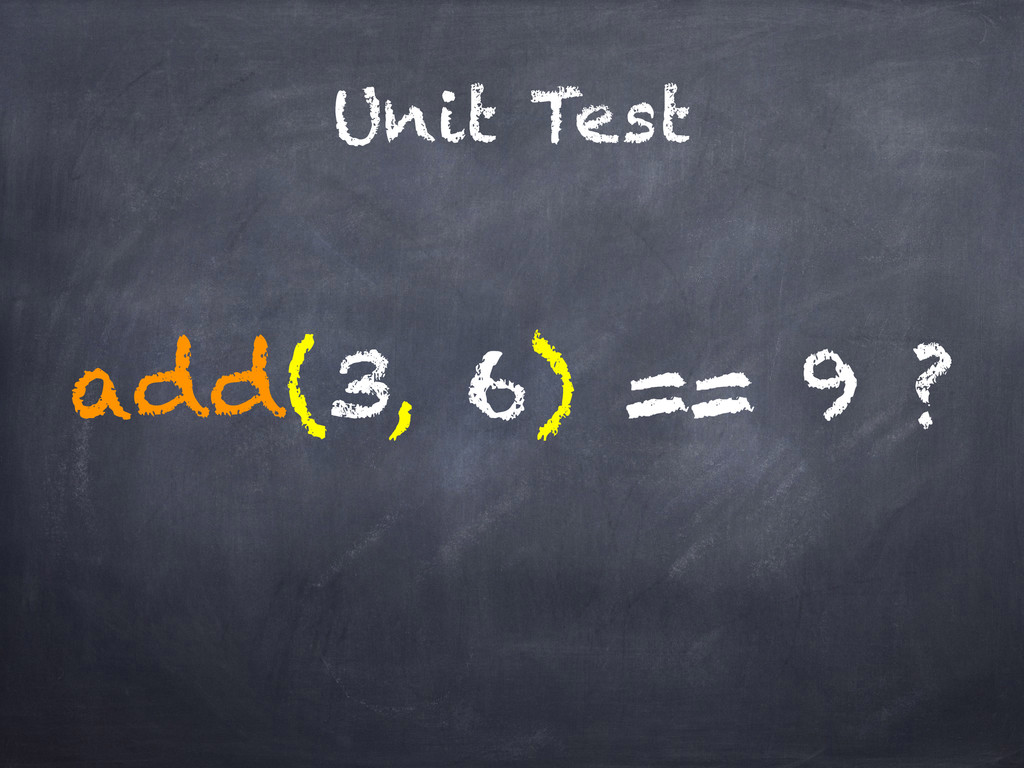 Unit Test add(3, 6) == 9 ?