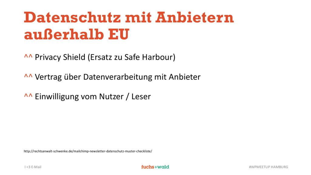 I <3 E-Mail #WPMEETUP HAMBURG Datenschutz mit A...