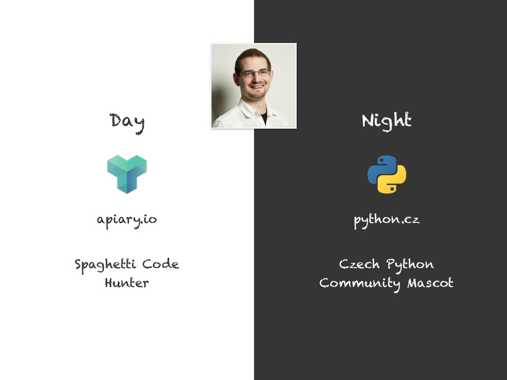 Day Night apiary.io Czech Python Community Masc...