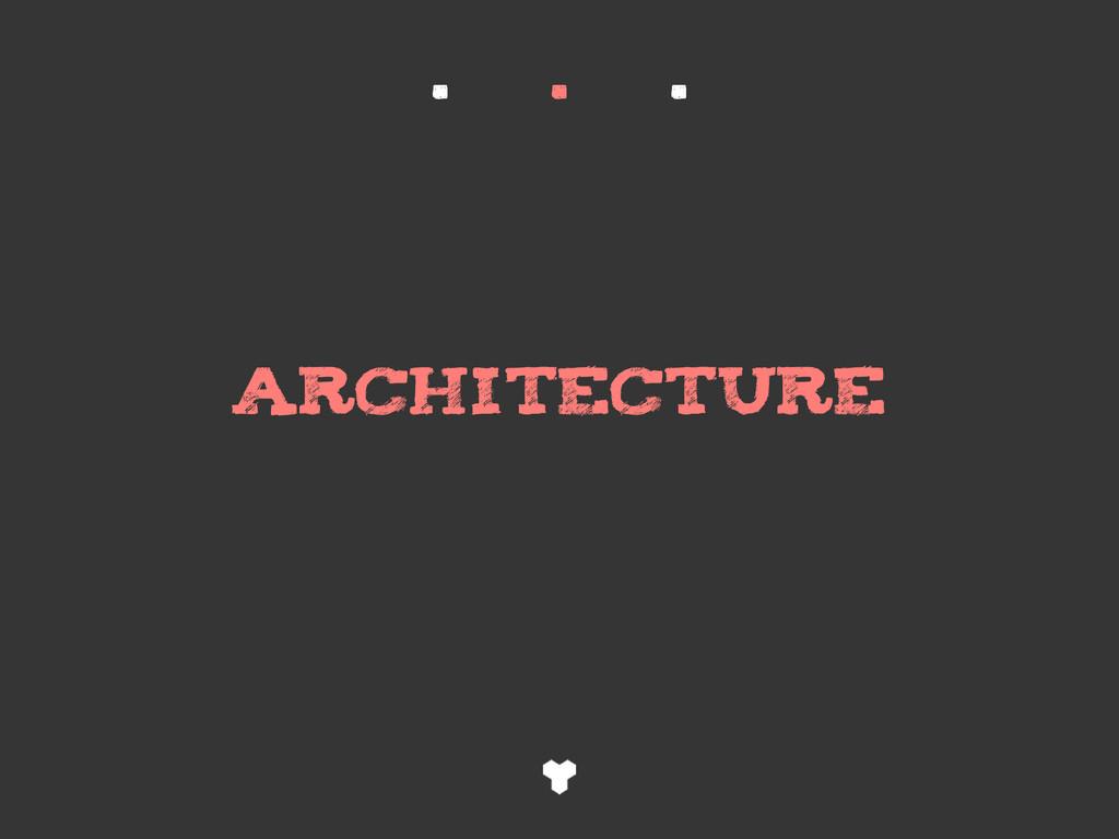 ARCHITECTURE . . .