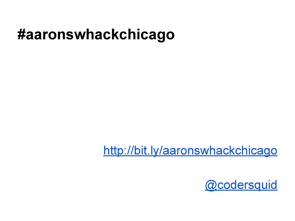 #aaronswhackchicago http://bit.ly/aaronswhackch...