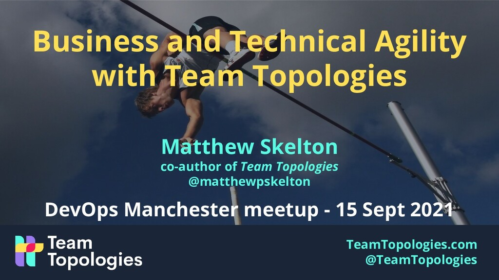 TeamTopologies.com @TeamTopologies Business and...