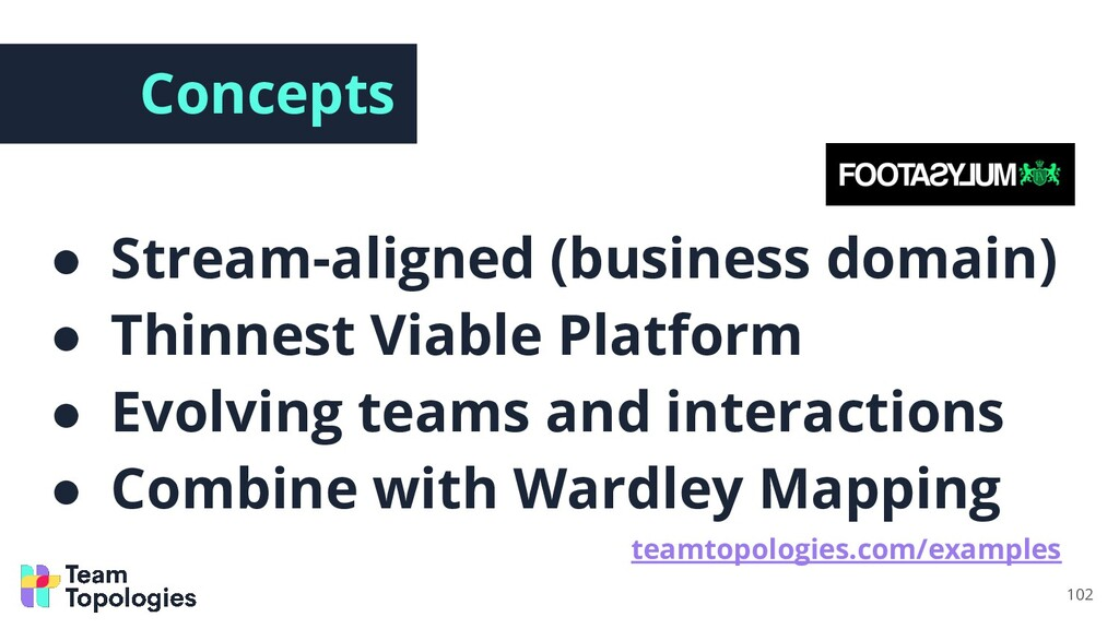 Concepts ● Stream-aligned (business domain) ● T...