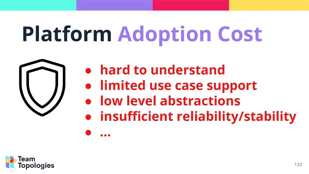 122 ● hard to understand ● limited use case sup...
