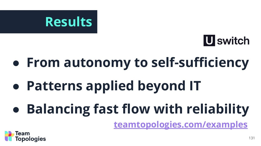 Results ● From autonomy to self-sufficiency ● Pat...