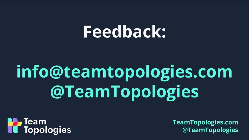 TeamTopologies.com @TeamTopologies Feedback: in...