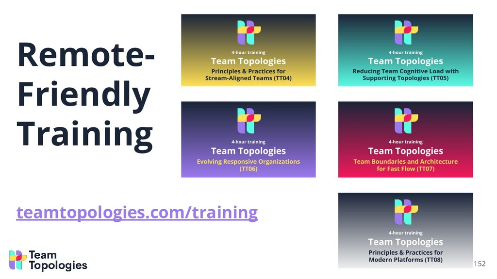 Remote- Friendly Training teamtopologies.com/tr...
