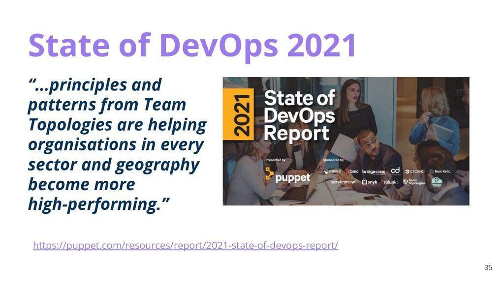 "35 State of DevOps 2021 ""...principles and patt..."