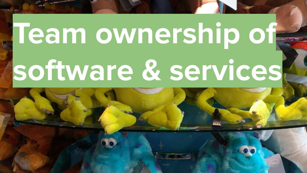 38 Team ownership of software & services