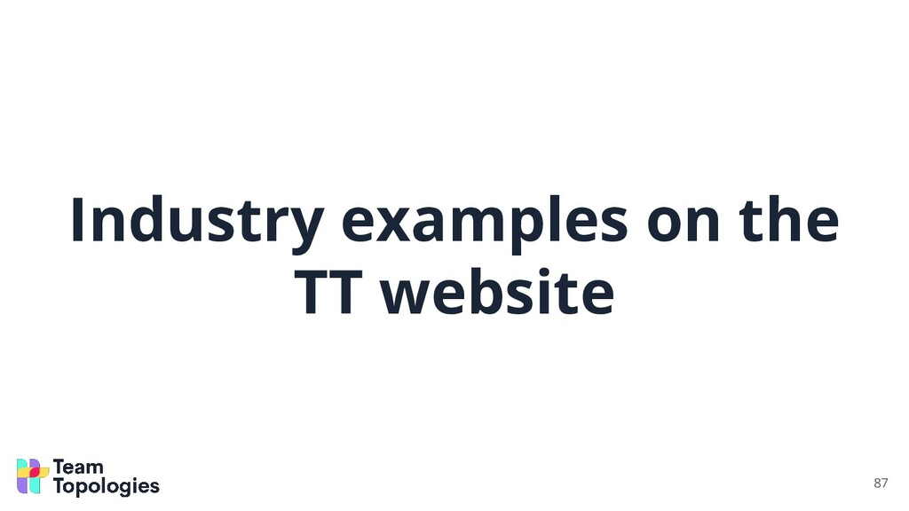 Industry examples on the TT website 87