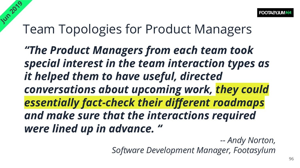 Team Topologies for Product Managers 96 Jun 201...