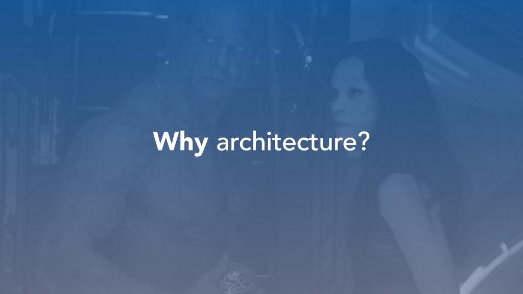 Why architecture? architecture?