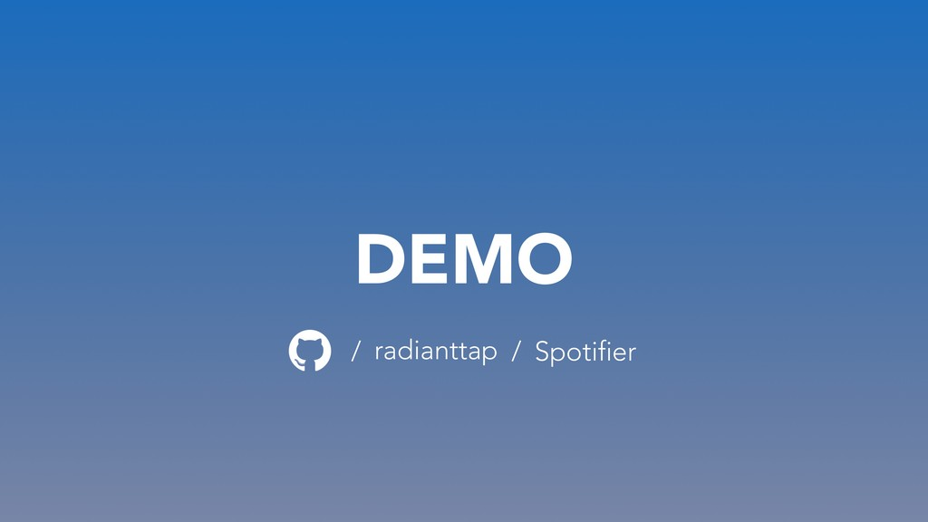 DEMO radianttap / Spotifier /