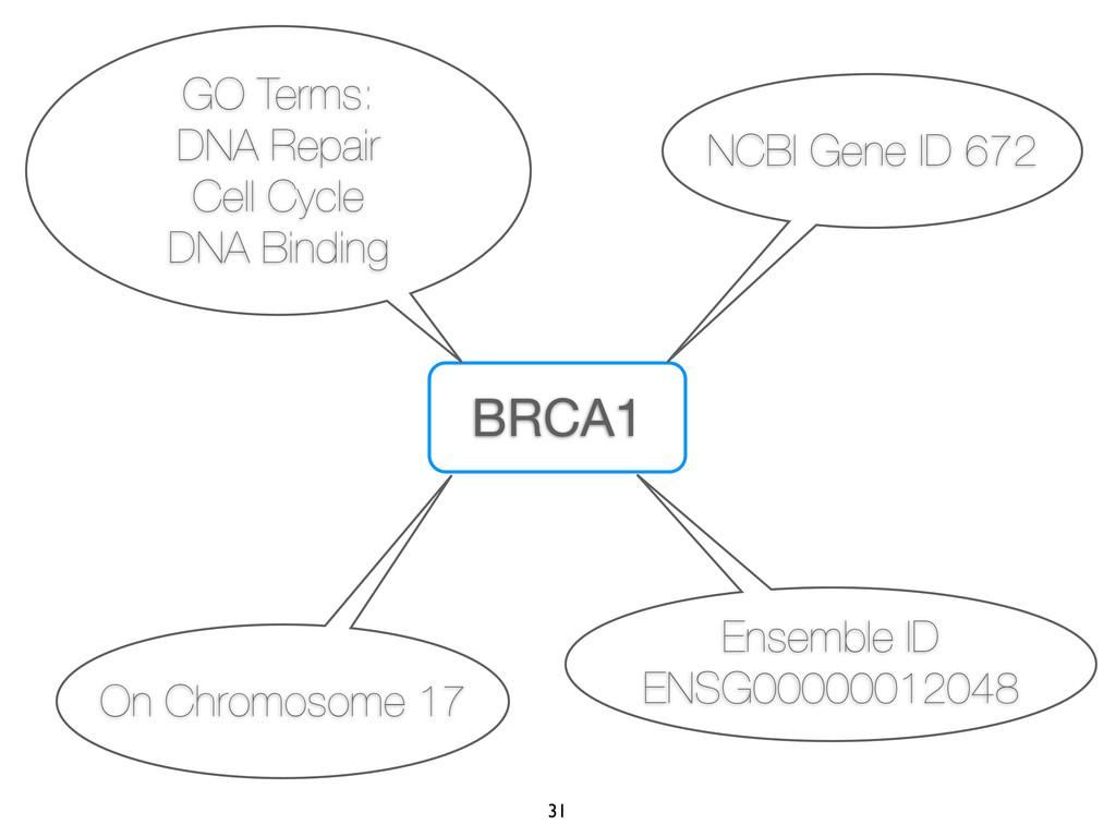 BRCA1 NCBI Gene ID 672 On Chromosome 17 GO Term...