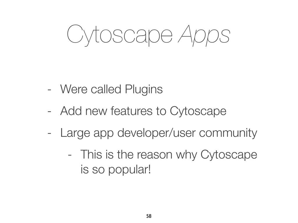 Cytoscape Apps - Were called Plugins - Add new ...