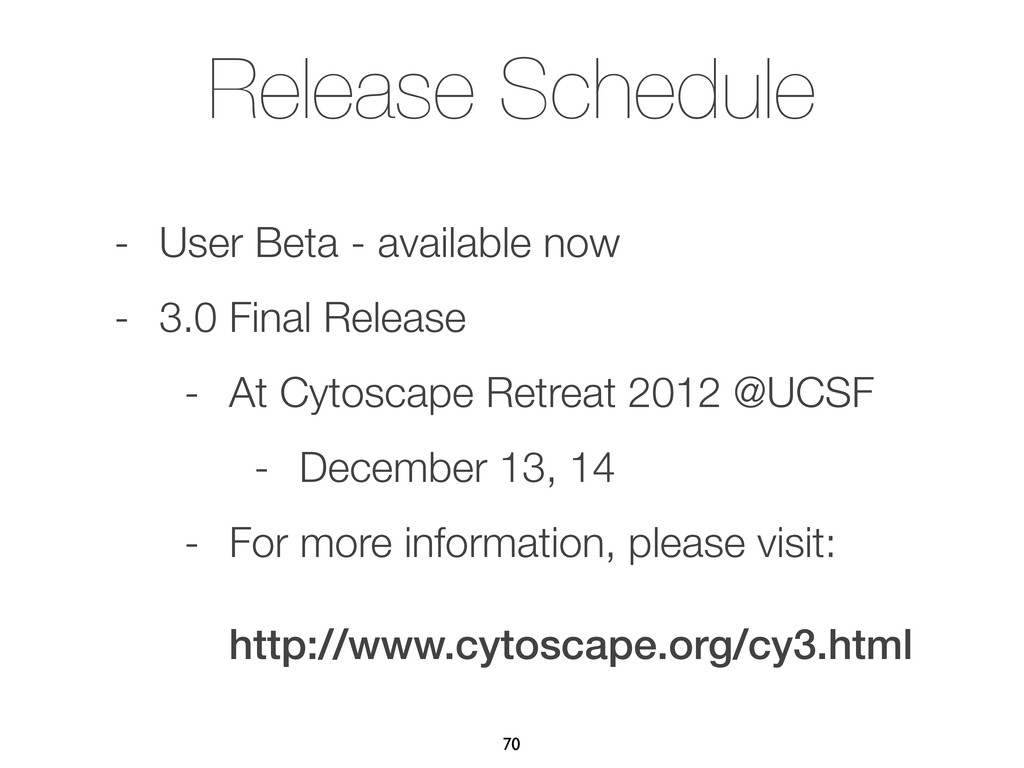 Release Schedule - User Beta - available now - ...