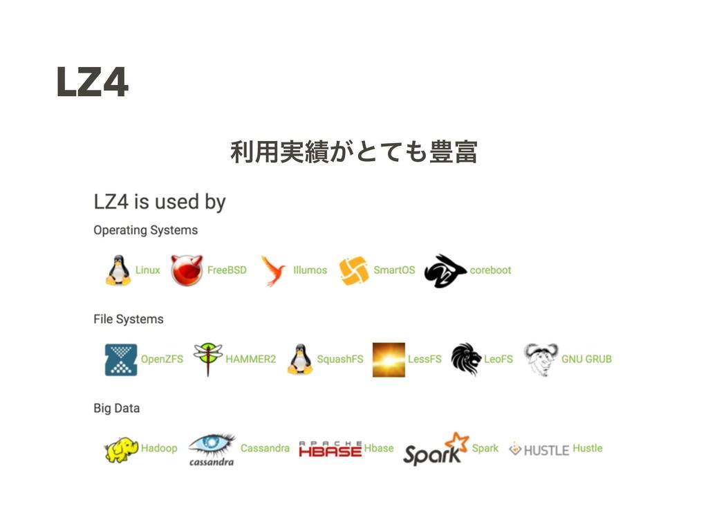 LZ4 ར༻࣮͕ͱͯ๛