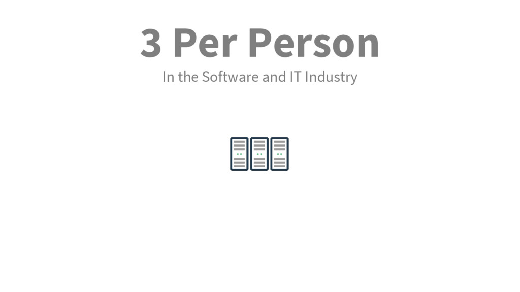 3 Per Person In the Software and IT Industry