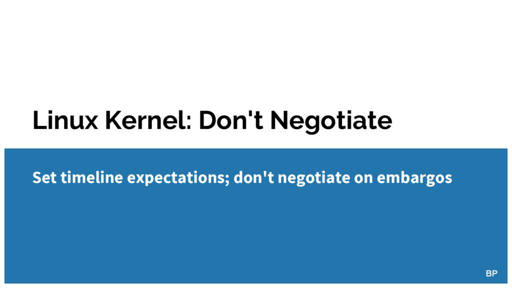 Linux Kernel: Don't Negotiate Set timeline expe...