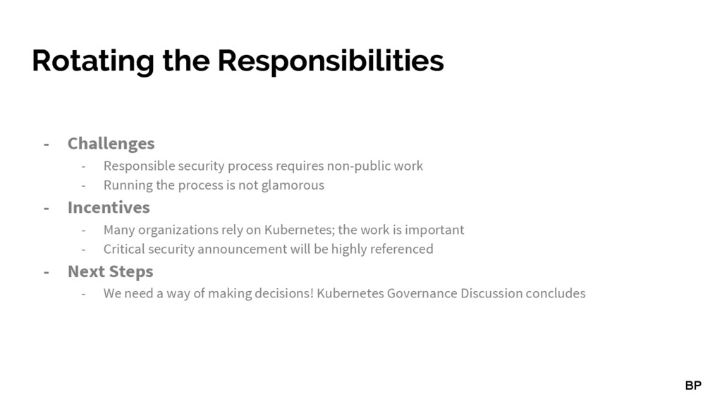 Rotating the Responsibilities - Challenges - Re...
