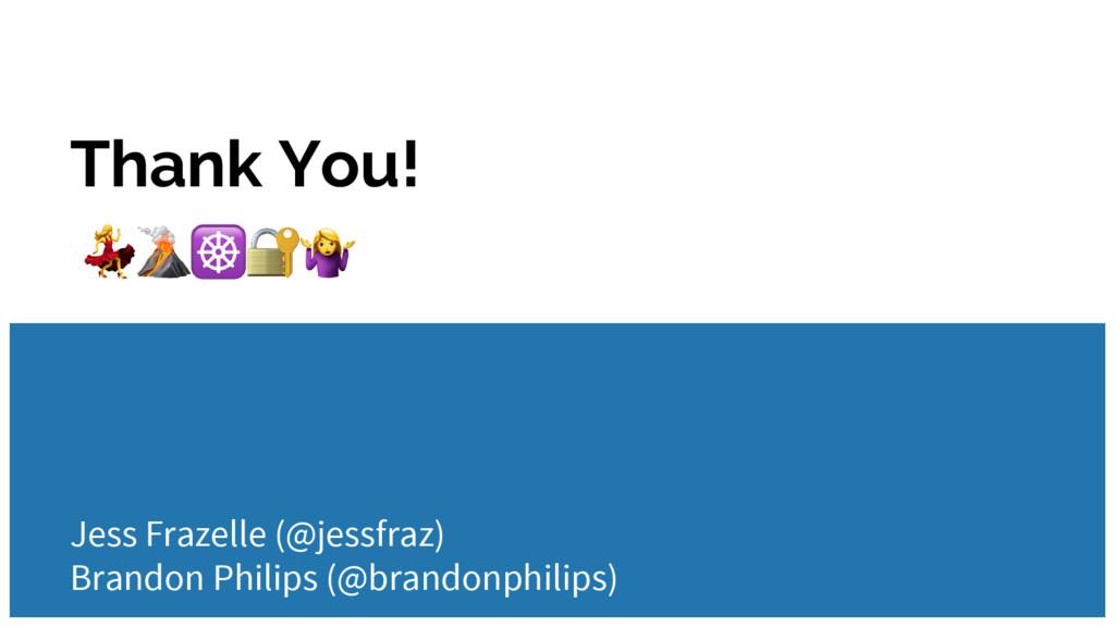 Thank You! Jess Frazelle (@jessfraz) Brandon Ph...