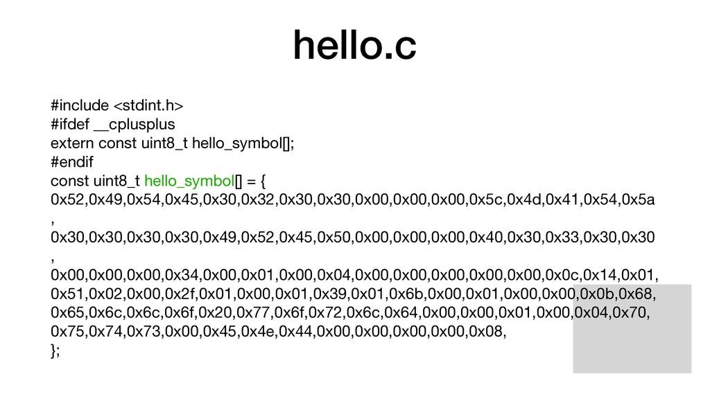 hello.c #include <stdint.h>   #ifdef __cplusplu...