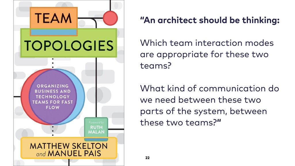 "22 ""An architect should be thinking: Which team..."