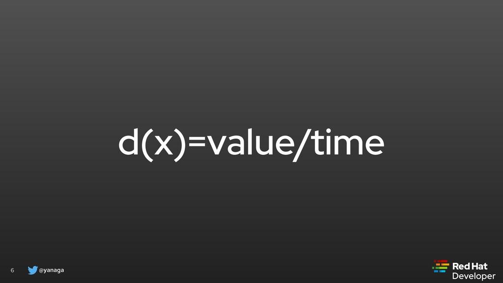 @yanaga 6 d(x)=value/time