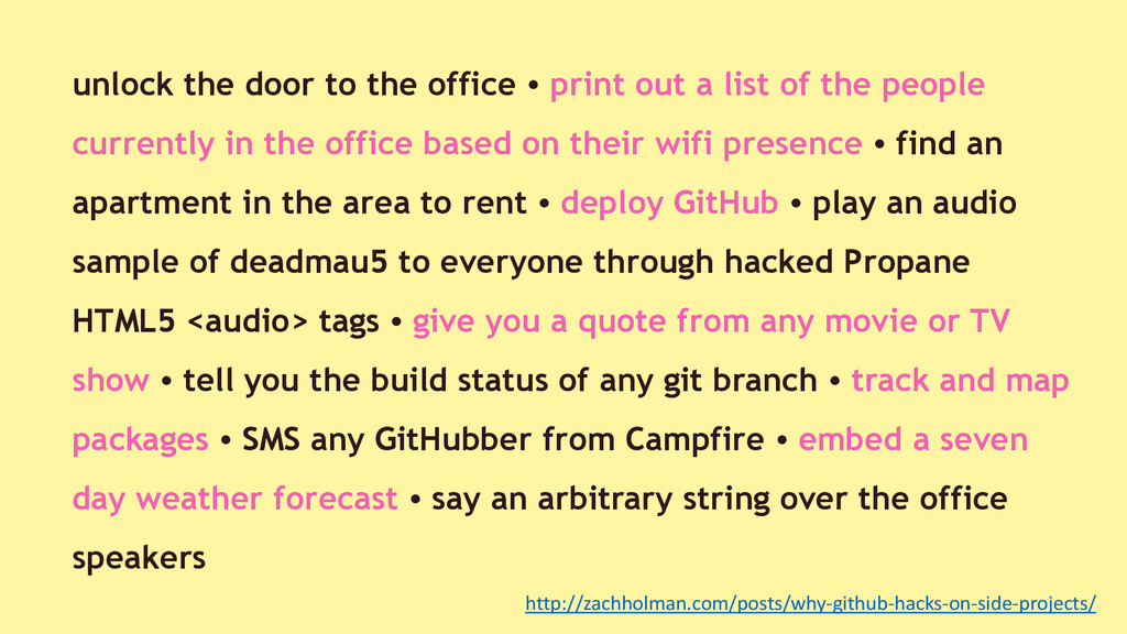 unlock the door to the office • print out a lis...