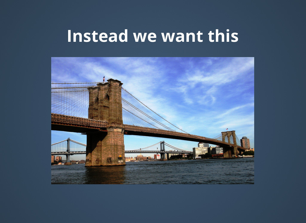 Instead we want this Instead we want this