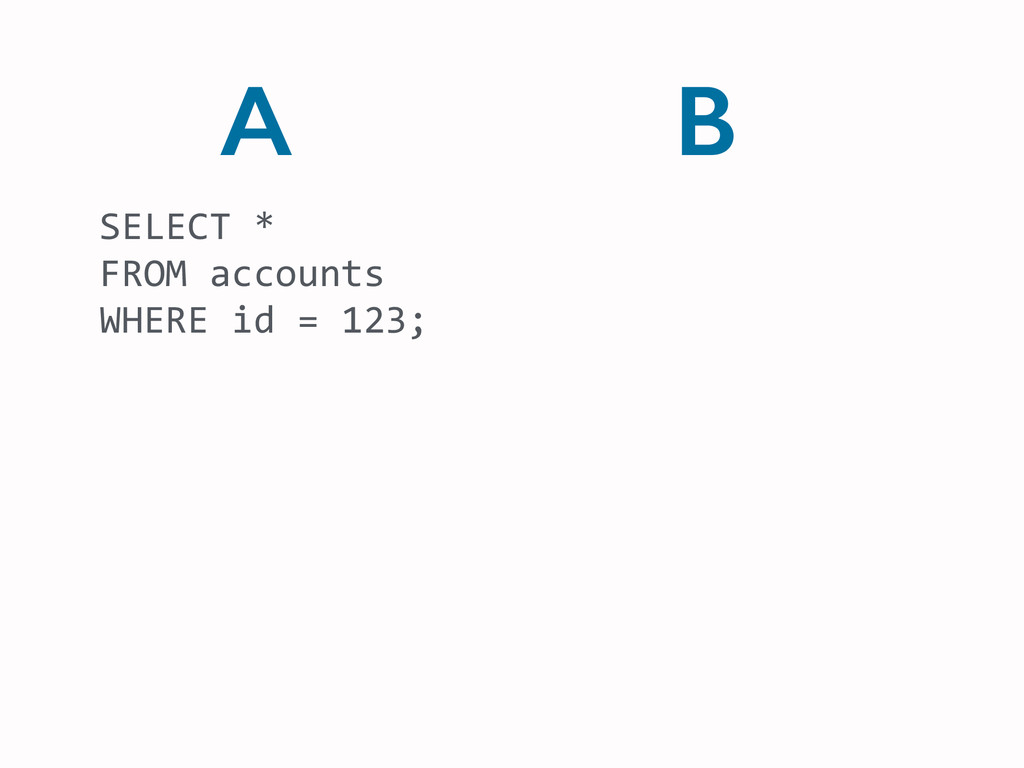 B SELECT	