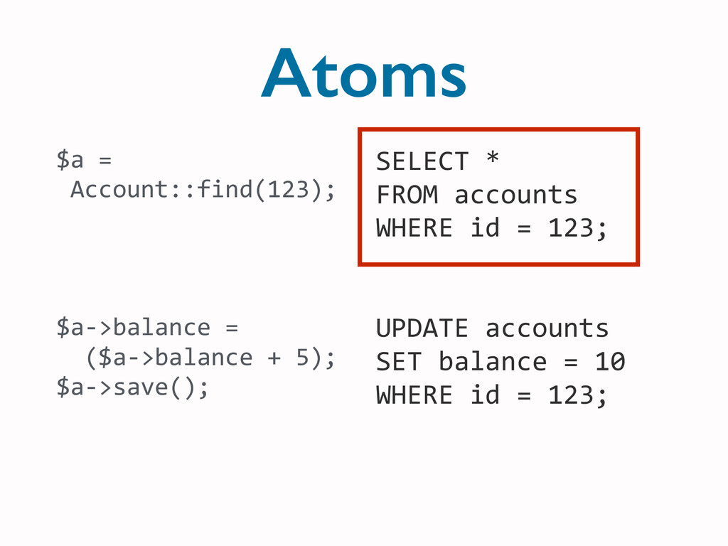 Atoms SELECT	