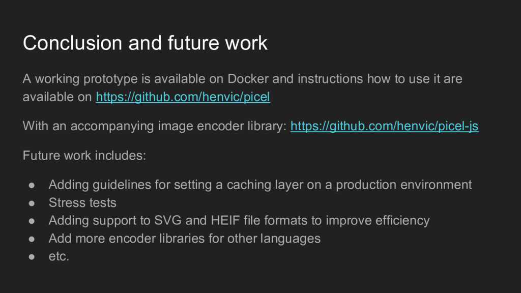 A working prototype is available on Docker and ...